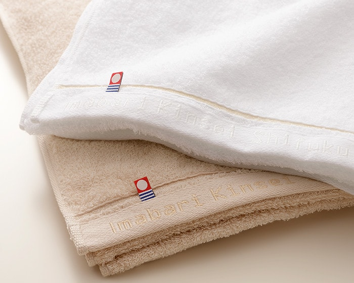 Imabari towel brand tag on Shifuku towel
