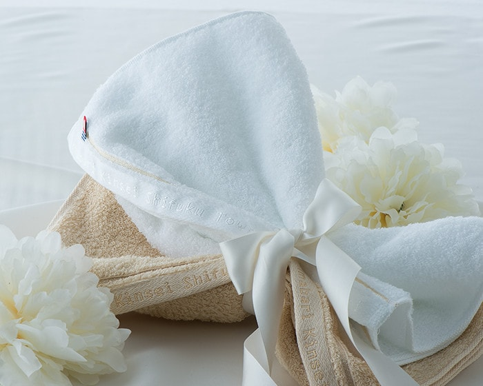 Imabari Shifuku towel tied with a ribbon