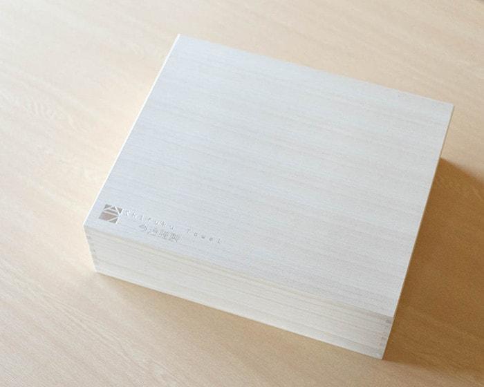 今治至福タオルの木箱