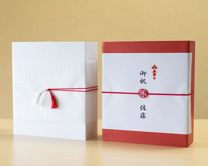 Image of gift wrapping on luxury towels of Imabari Kinsei
