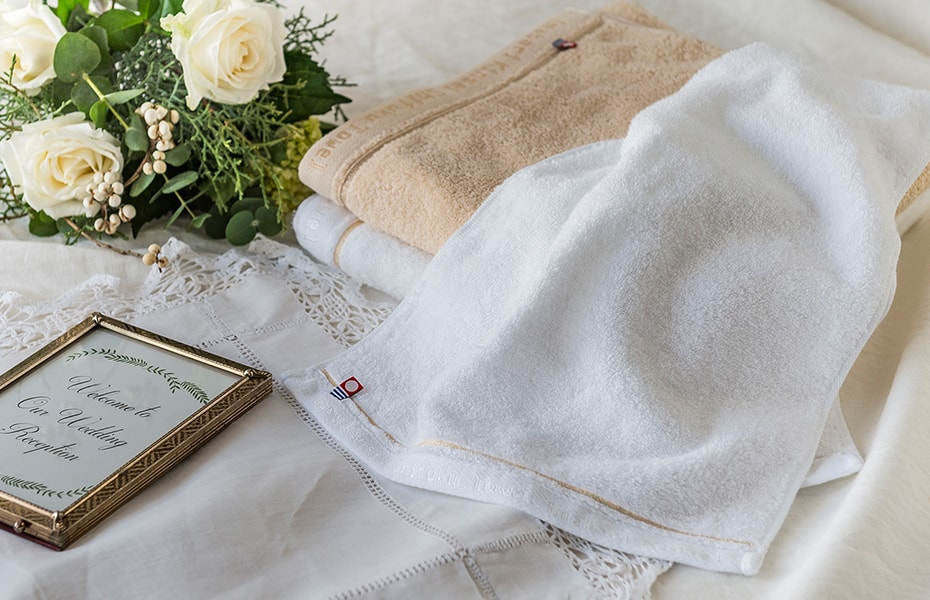 Fluffy towels Shifuku towel from Imabari Kinsei