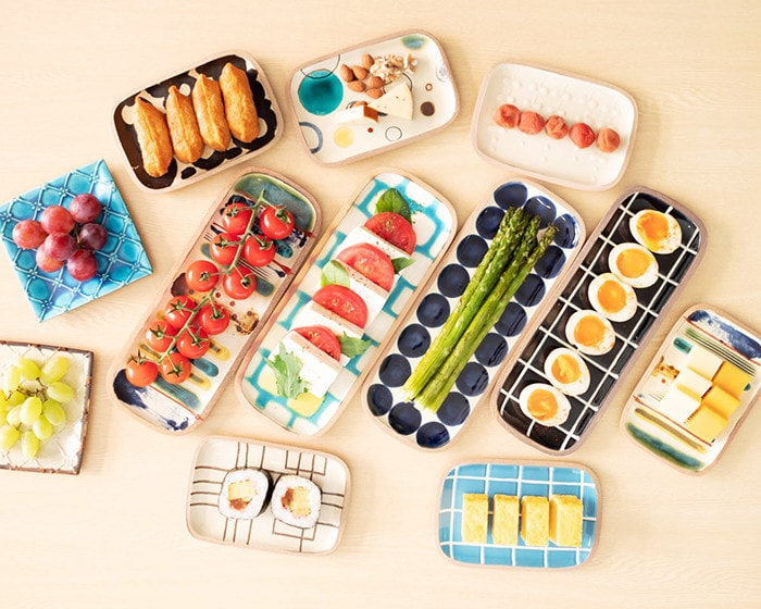 Colorful home party with colorful Yachimun plates