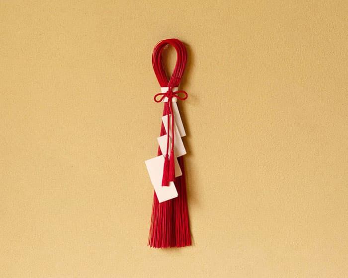 紅白 清らかな紙垂(しで)