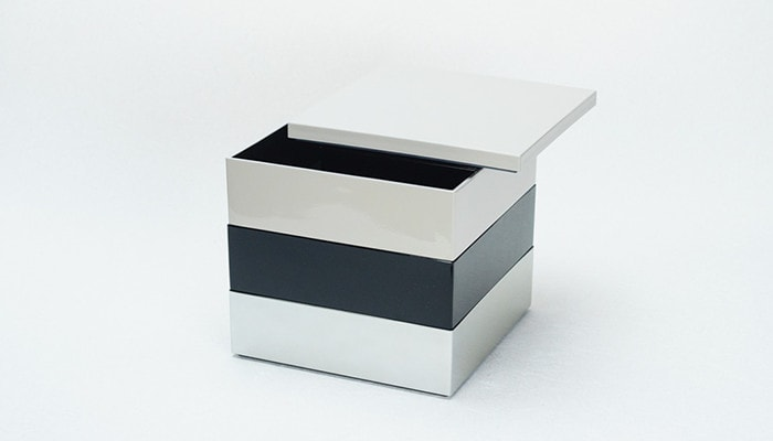 Gray + Black + Silver 6.5 sun Jubako box