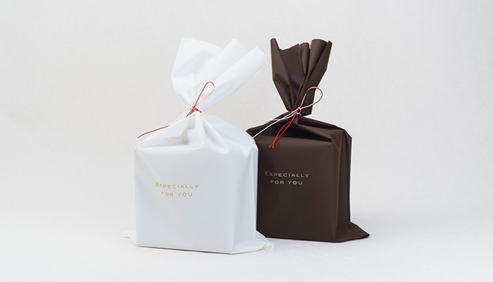 Image of gift wrapping with plastic bag