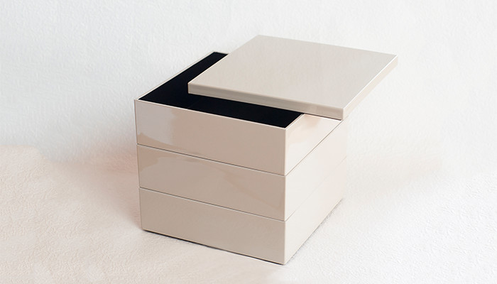 Jubako box Greige from Japan Design Store