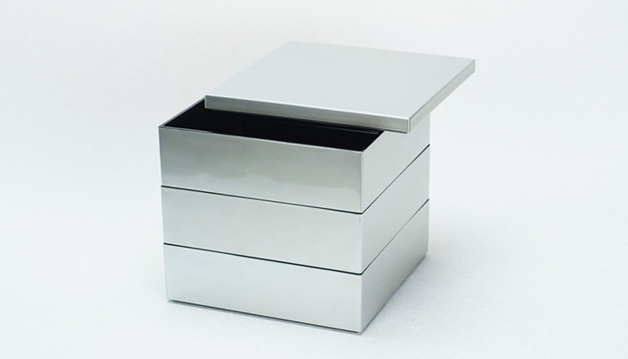 Jubako box Silver from Japan Design Store