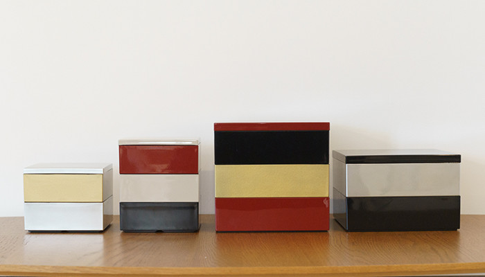 Various types of Jubako boxes from Japan Design Store