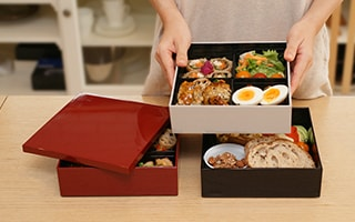 Gorgeous Osechi with Bright Jubako Box