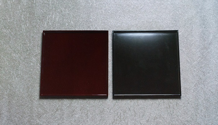 溜塗と漆黒の日本デザインストアオリジナルのお盆・トレー