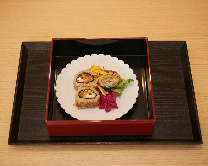Sushi on Palace Plate in Jubako box