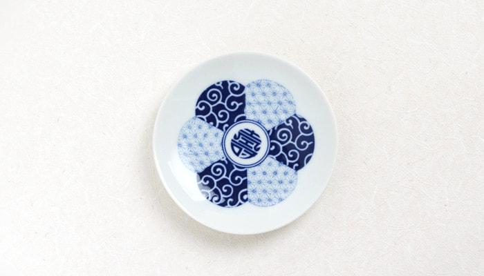 KIHARA MAME ZARA 豆皿寿紋・ことぶきもん