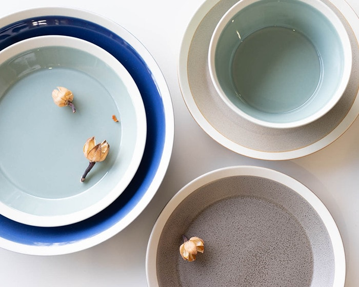Different textures of dishes by yumiko iihoshi porcelain