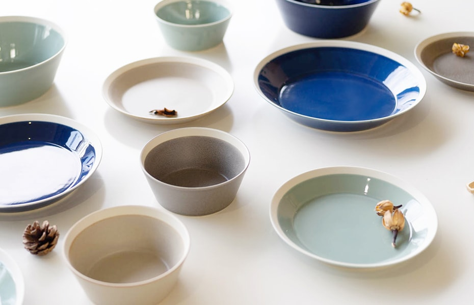 "Simple tableware in ""dishes"" by yumiko iihoshi porcelain × Kimura glass"
