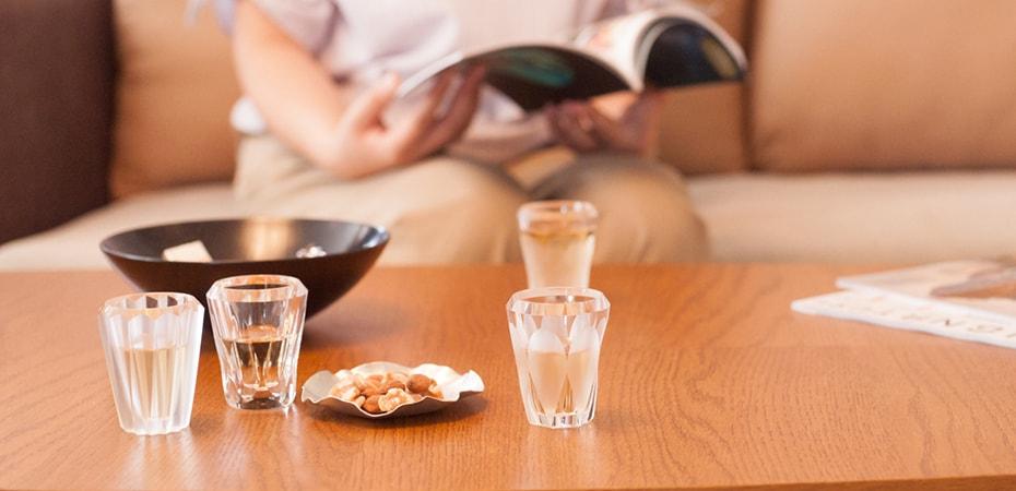 クリスタルガラスの贅沢な輝き 江戸切子のショットグラス