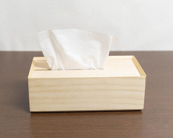 増田桐箱店の木製ティッシュケース