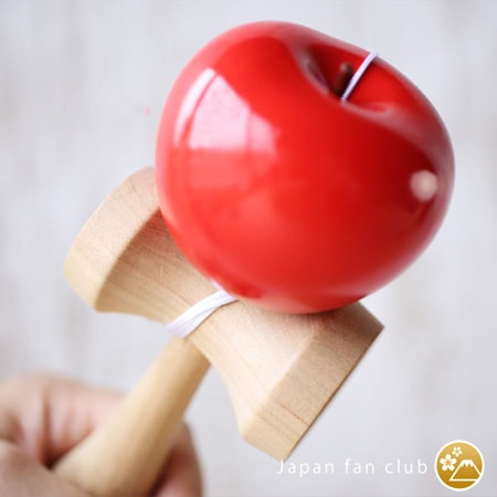 Beautiful texture of wood of the body of apple kendama