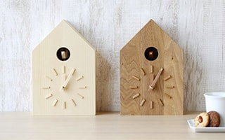 Natural and modern cuckoo clock from more Trees design