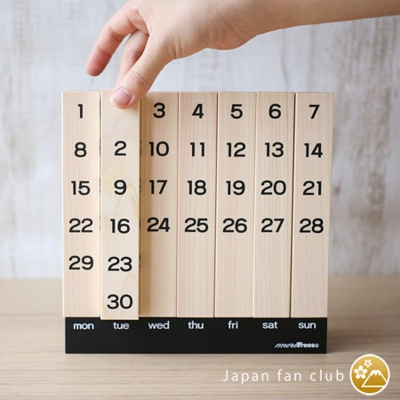 7 blocks of wooden calendar