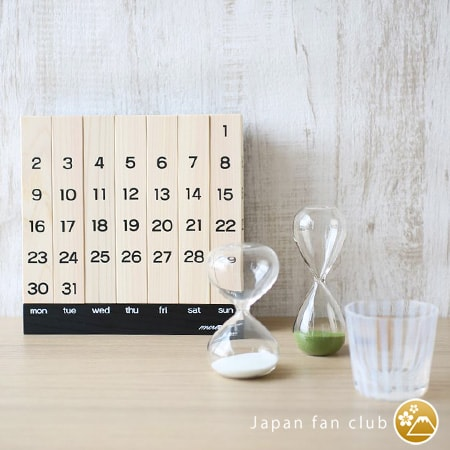 the size of wooden perpetual calendar comparing with glass