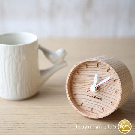 cute presence of wooden table clocks