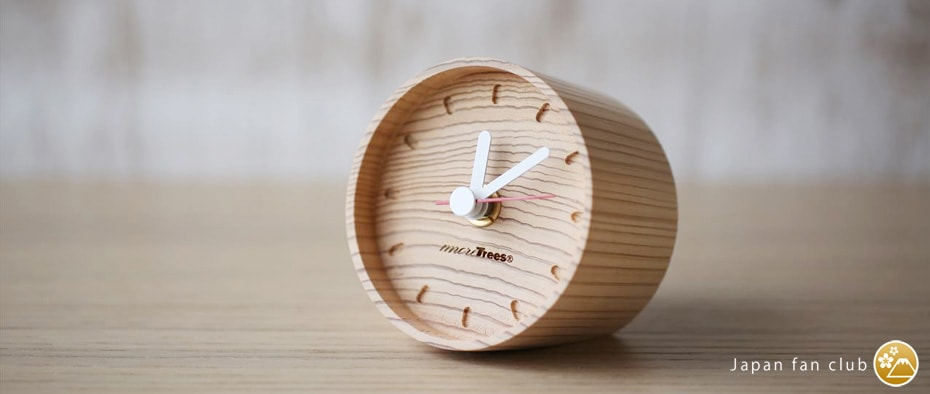 wooden table clocks from more trees design