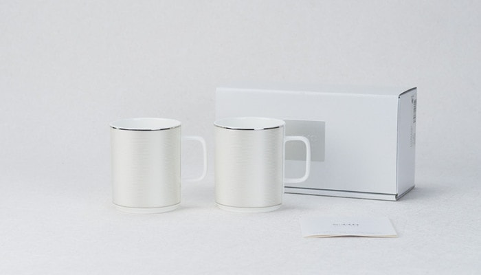 Pair mug set of ELITE MODERN of NIKKO and its exclusive box and description