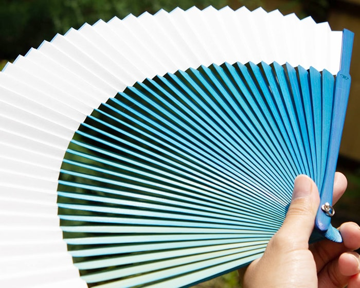 42 sticks of blue gradation fan from Nishikawa Shouroku