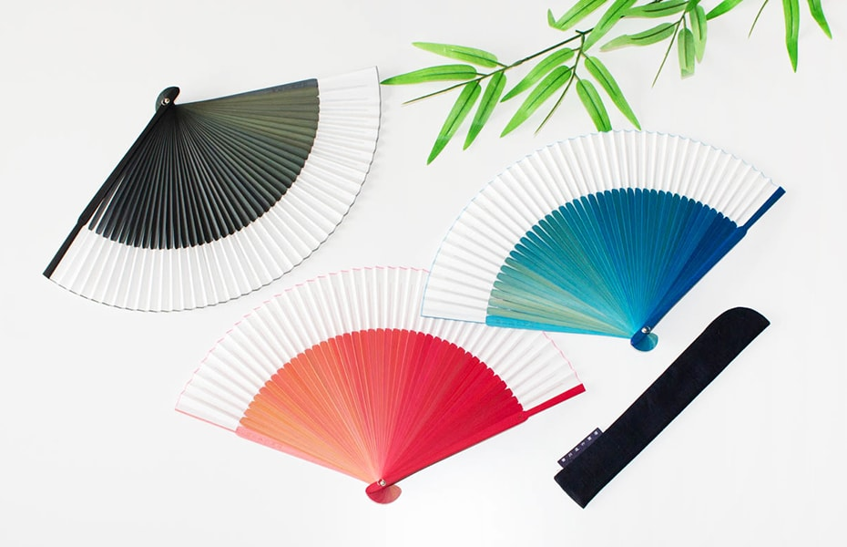 Sensu fan with color gradients