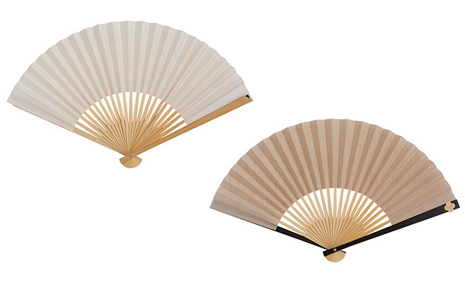 White and beige color of Japangarde fan