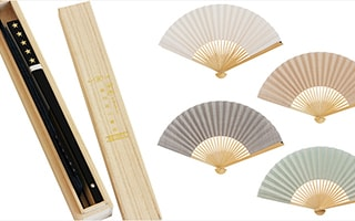 Simple and modern, Omi Chijimi folding fan Japangarde