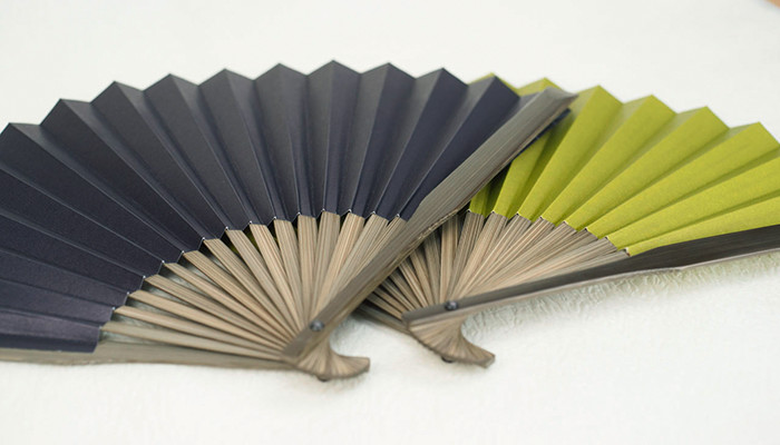 Navy and matcha Dai-furyo fans