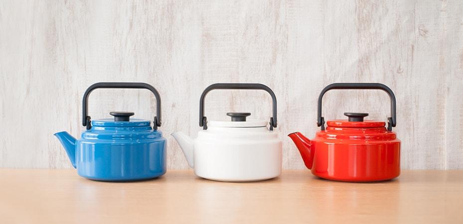Retro kettle Amukettle from Noda Horo