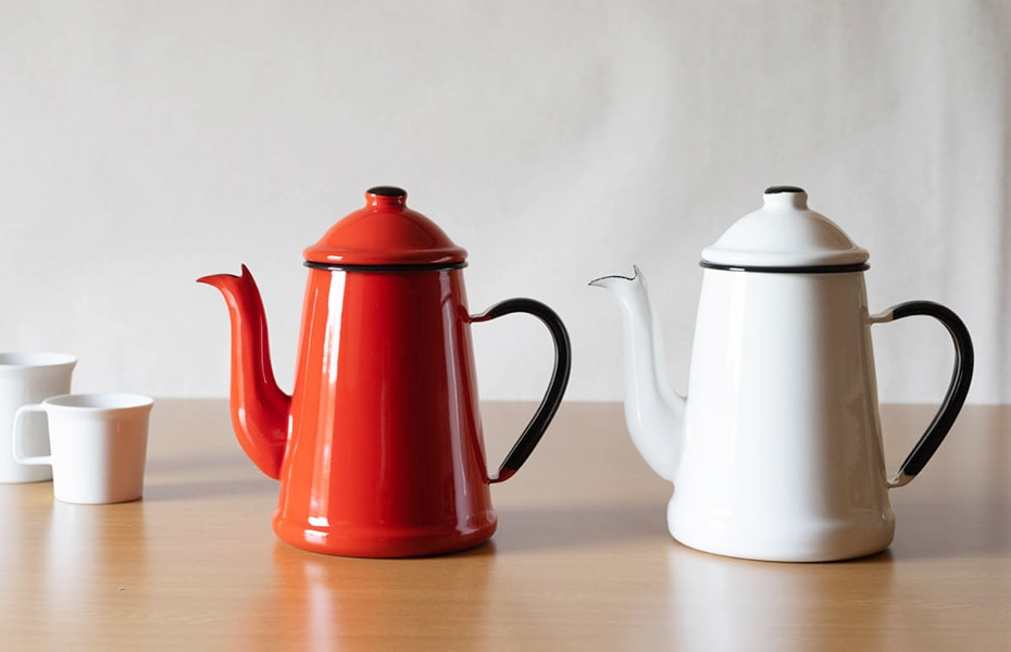 Pour over kettle L'ambre pot from Noda Horo