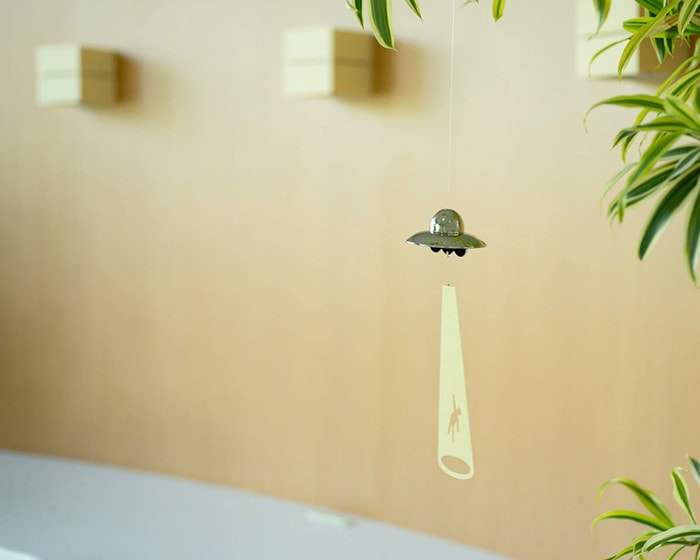UFO wind chime from Nousaku at the entrance hall
