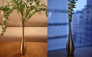 Sorori, a stylish Japanese metal flower vase