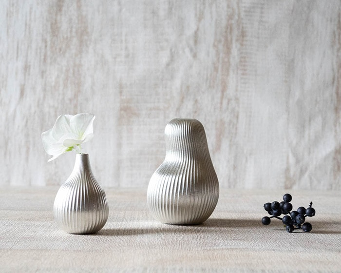 Bud vases fig and pear from Nousaku