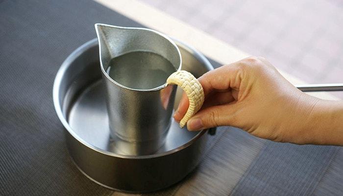 warm sake with sake bottle Chirori