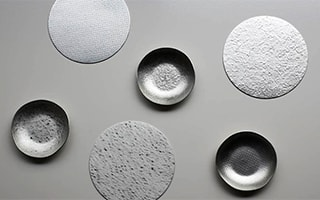Flexible tin tableware and sheet of Nousaku