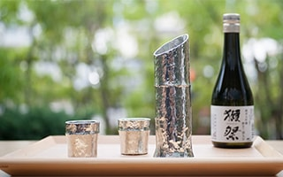 For your luxurious sake time. Bamboo sake set of Nousaku