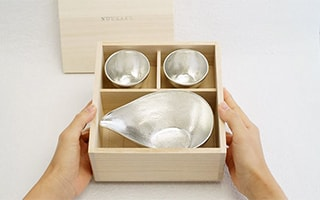 High quality sake set of Nousaku for important gifts