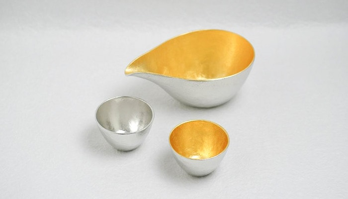 Sake set with Katakuchi and guinomi from Nousaku