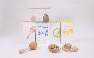 Wooden rattles for babies! Japanese high-quality wooden toy