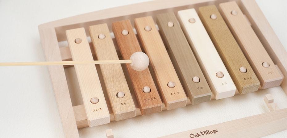 やさしい音色が赤ちゃんと家族にとどく、美しい木琴