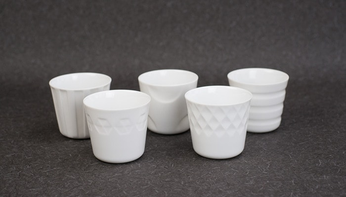 5 patterns of translucent porcelain cups