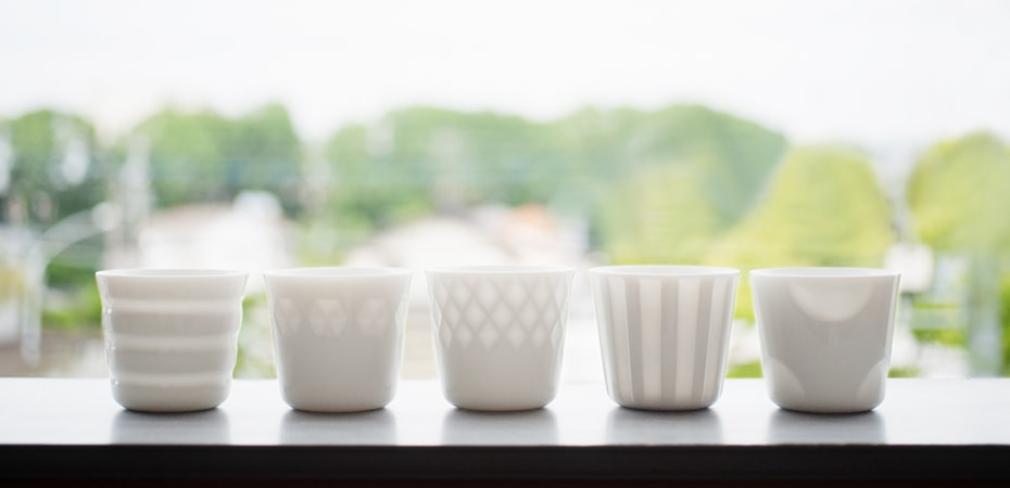 Translucent porcelain cups HONOKA
