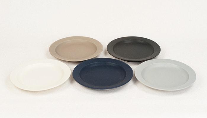 Monotone set of 5 plates