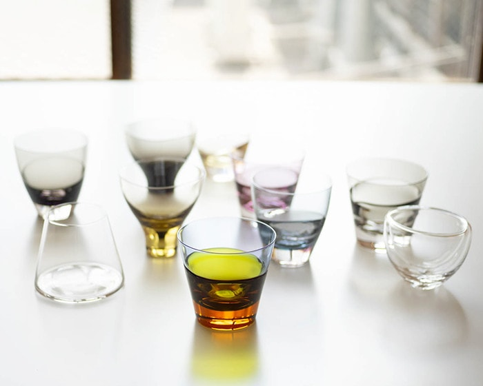 Various glasses of Sugahara on the table