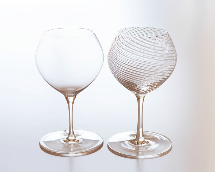 Plain and Twisted wine glass Bueno from Sghr