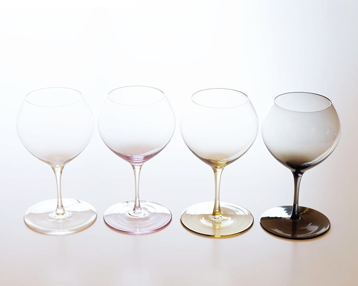 4 colors of Plain wine glass of Bueno